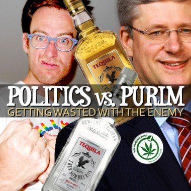 Joseph Rosen (left) and Stephen Harper