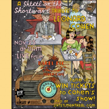 Shtetl's Cohen Tribute at Bagel Etc. Nov 23 live on CKUT 90.3FM