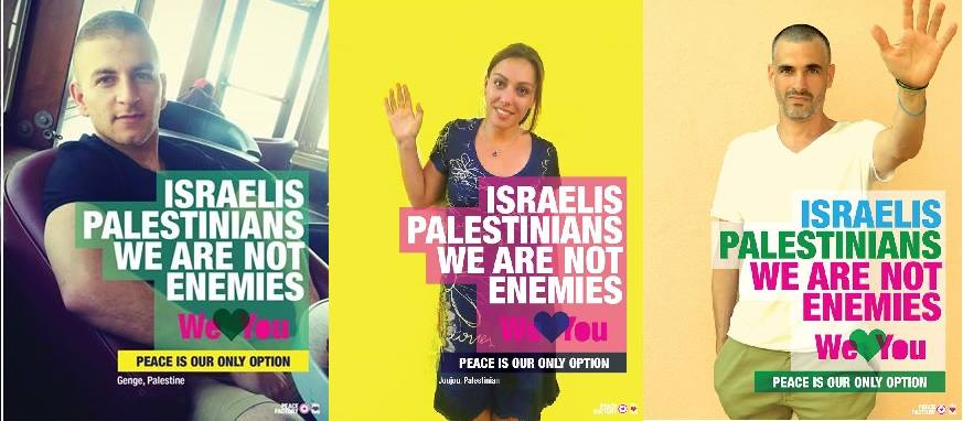 """This is one of many images from the """"Palestine Loves Israel"""" Facebook campaign where you can read posts and see images that highlight the humanity of everyone involved in the conflict."""